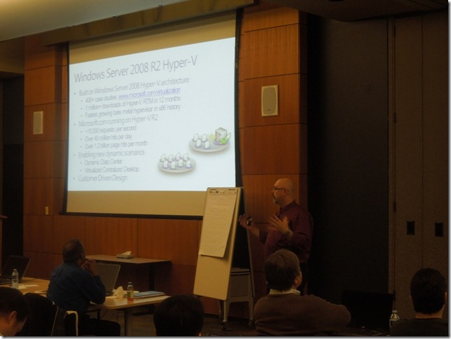 Damir Bersenic is rocking the house at the second Virtualization Boot Camp Challenge…