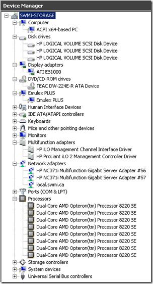 Image1: Device Manager, Parent Partition