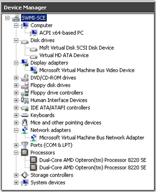 Image2: Device Manager, Child Partition