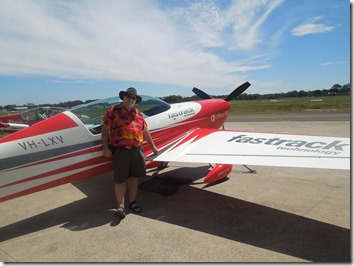 Mitch with the Fastrack Office 365 stunt plane!