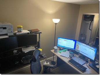 A cluttered and busy work area is not an acceptable testing area.